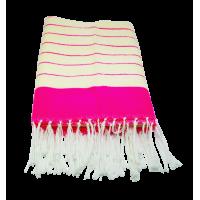 CHAMALIA (cape/ tissu traditionnel/ Décoration). Dimensions 1m60/80cm. Couleur Rose.