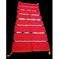 Tapis Rouge Multiusage ou Hambel Amazigh. Dimensions 3m X 0,75 m. Région : Béni Mellal La Splendeur du Passé