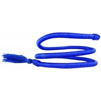Bracelet Bleu Spiralé Artisanal en fil de soie